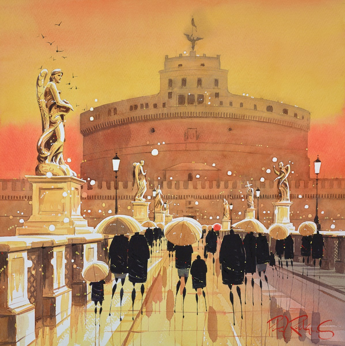 Rome Reflections by Peter J Rodgers -  sized 21x21 inches. Available from Whitewall Galleries